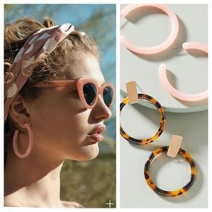 Anthropologie Resin Earrings